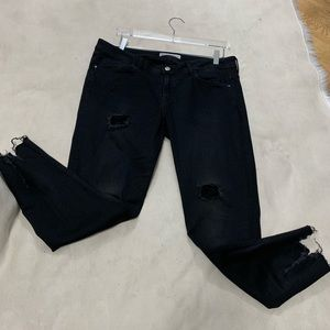 ZARA BASIC DEMIN BLACK PANTS Size 12